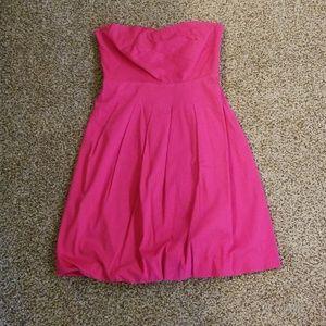 Calvin Klein pink strapless dress